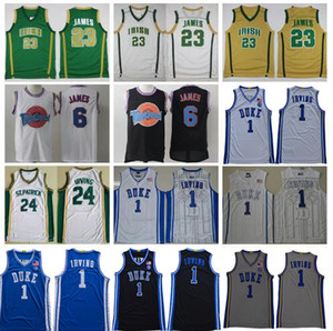 ST Vincent Mary High School Irish James Jersey 2020 Nouveau Duke Blue Devils Kyrie St. Patrick Irving Basketball Jersey Jersey Tune Squad LeBron