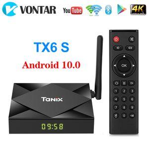 TANIX TX6S الروبوت 10.0 TV صندوق ALLWINNER H616 رباعية النواة 4GB 64GB الذكية تدفق وسائل الاعلام لاعب 5G واي فاي بلوتوث تعيين كبار مربع