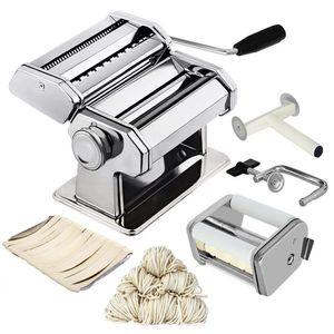 Noodle Pasta Criador de aço inoxidável Nudeln Máquina Lasanha Espaguete Tagliatelle Ravioli Dumpling Criador máquina com dois Cortador