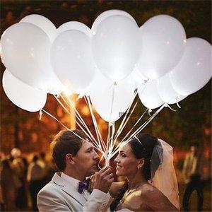 12 inç Beyaz Led Flaş Balonlar Işıklı LED Balon kızdırma doğum günü partisi malzemeleri Düğün Dekorasyon Pil tarafından desteklenmektedir
