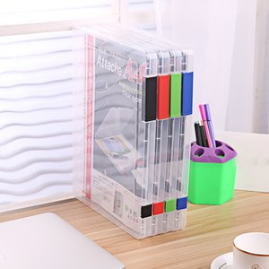 Organiser Papelaria Criativa Folder For Documents A4 Transparent Storage Box Clear Plastic Document Filling Case File # 37