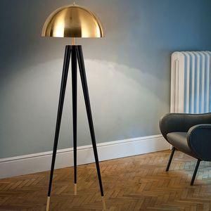 Nordic Gold LED Floor Lamp Luxury Black Metal Floor Light Lighting Living Room Bedroom Art Home Store Bar Decor Kitchen Fixtures