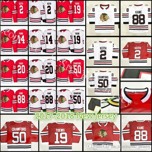 2018 Nueva Chicago Blackhawks de hockey jerseys 17-18 Men # 88 Patrick Kane 2 Keith Toews 19 50 Corey Crawford 20 Saad 14 Panik Jersey