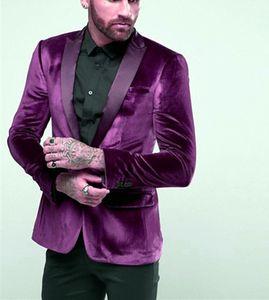 Custom-made Peak Lapel Groomsmen One Button Groom Tuxedos Men Suits Wedding Prom Dinner Best Man Blazer(Jacket+Pants) W86