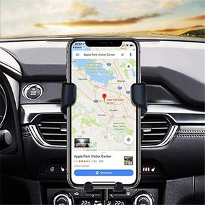Gravity Car Holders Phone Grips In Car Mounts Air Vent Clips Supports No Magnetic Mobile Phone Holders Cell Stands For iPhone Samsung S10e