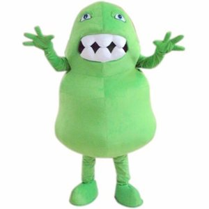 Professional custom Green Germ Mascot Costume Cartoon Green Bacteria Animal Character Clothes Christmas Halloween Party Fancy Dress
