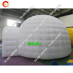 Oxford Stoff billige aufblasbare Playgloo Zelt zum Verkauf Aufblasbare White Dome Festzelt Zelt riesigen aufblasbaren Iglu Zelt Rasen Partyzelte