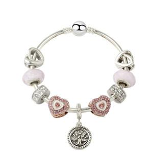 New Life Tree Bracelet Braccialetto Braccialetto Braccialetto 925 Braccialetto d'argento Charm Beach Beads per regalo di Natale Gioielli fai da te