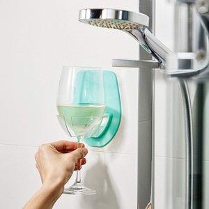 `Watt Plastic Wine Glass Holder For The Bath Shower Red Wine Glass silky strong Wine glass storage rack Kitchen Rack Hanging