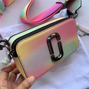 delle donne di lusso del progettista delle borse del sacchetto Lettera larga tracolla doppia cerniera Mini Piazza borsa di lusso del progettista Crossbody Borse crossbody