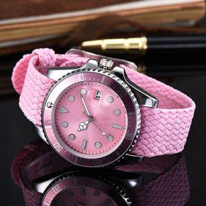 Acquisti dettati dal panico Classic donne Guarda Relojes Mujer uomo Orologi tessitura Strap orologi del quarzo regalo Clock Relogio Feminino