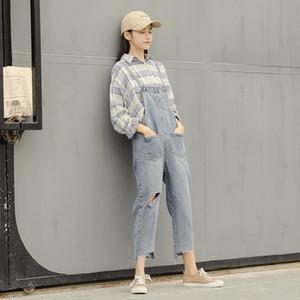 Pengpious primavera nova moda jeans total deisgn buraco no joelho