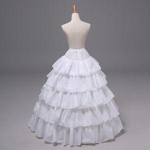 12004 novia Enaguas Complementos boda 5 capas 4 aros de la crinolina de flores vestido de niña nupcial blanco princesa enagua de vestido de bola