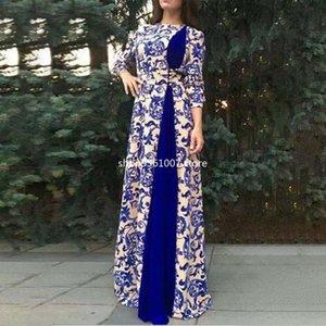 Этническая одежда S-5XL африканские платья для женщин халат африканский 2021 Дашики мода печатная ткань длинные макси платье в Африке