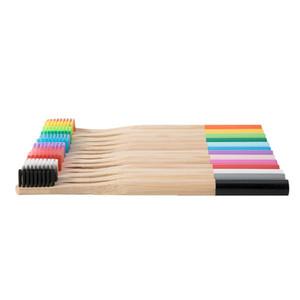 Bambu doğal özel markalı BPA kraft paket yuvarlak sap otel kıl atılabilir çevre dostu diş fırçası