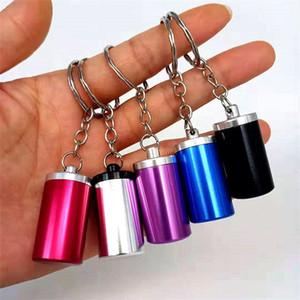 Palmiye Küçük Küllük Kasa Mini zincirleme Metal Alüminyum Ashtrayes Vaka Silindir Stil Konteyner Ürünleri Sıcak Satış 2 8HQ B2