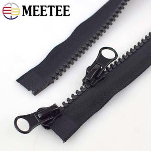 Meetee 5 # Double curseur Résine Zipper Zip Open-end pour les vêtements Sofa couture Craft Tente Accessoires A4-5