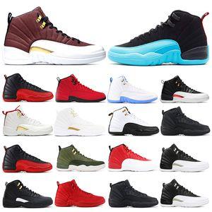 2020New mens bsaketball shoes 12s game ball Royal FIBA нейлон обратное такси темно-серые кроссовки спортивные кроссовки размер 7-13