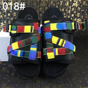Zapatillas de visvim de la mejor calidad Zapatillas de diseñador de moda para amantes de los hombres coloridos Sandalias de playa para mujer Zapatillas de exterior Sandalias de calle Hip-hop volar