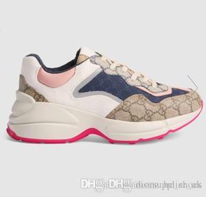 Primavera Verano 2020 del diseñador colección de zapatos Hombres Mujeres Rhyton zapatilla Casa emblemática zapatilla de deporte de los zapatos de moda retro logomanía entrenador de lujo