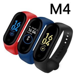 Yeni M4 Akıllı Bilezik Band Bilekliği Spor Izci Sağlık Kalp Hızı Monitörü Bluetooth Smartwatch Destek Yaşam Su Geçirmez PK Mi Band 4