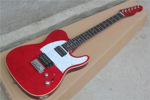 Sıcak saling! yazma Pickguard teklifle Kırmızı gövde Elektro Gitar özelleştirilmiş.