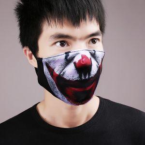 2020 Nouveau Parti Halloween 3D Masques de crâne magique Clown Vélo Ski Sports Demi Masque Masques Masques multiusages crème solaire cou bouche visage Party