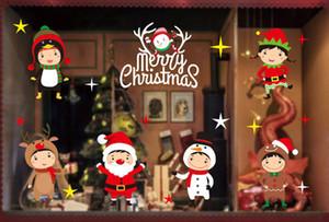 Autocollants de Noël Autocollants de flocon de neige pour verre de Noël Cadeaux de Windows Accueil Etalage Décorations Décor neige Autocollants pour soirée de mariage