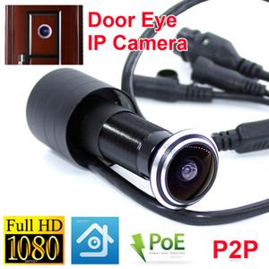 IP 카메라 ONVIF 메모리 TF 카드 슬롯 POE은 iP 미니 카메라 도어 아이 170degree 네트워크 들여다 보는 구멍 문 고양이 눈