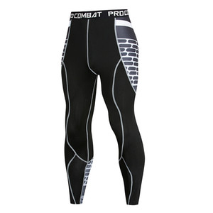 Men's compression tight leggings running men's fitness trousers quick-drying pants exercise Crossfit Yoga Fund