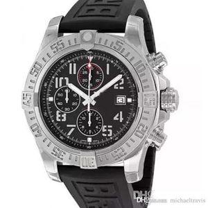 2019 Mens Watch Super Avenger II 1884 Quartz Movement Chronograph Male Rubber Strap Men Watches A133711 Wristwatch Relogio Masculino