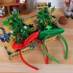 Weihnachten Stirnband Dekorationen Party Kopfschmuck Red Hat Non Woven Stirnband Urlaub Party Birthday Party Supplies Geschenkpapier XD19941