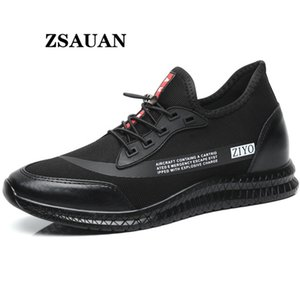 ZSAUAN Trendy Men Elevator Shoes 5~7 CM Summer Male Casual Sneakers Thick Sole Lift Height Increased New Young Men Loafers