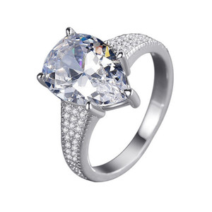 New romantic ring luxury designer jewelry CZ diamond silver plated temperament fashion wild lady ring with box holiday gift