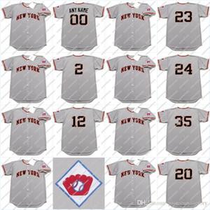 Leo Durocher 1951 12 EDDIE stanky 20 Monte Irvin 23 BOBBY THOMSON 24 Willie maio 35 SAL MAGLIE basebol Jersey