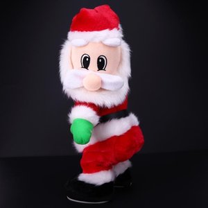 Wholesale-Christmas Electric Twerk Santa Claus Toy Music Dancing Doll Xmas Gift Navidad gift for children, friends and families Party Tool