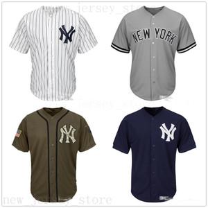 Uomo Donna Maglie giovanili Jersey vuoto Baseball Jersey Nessun nome Nessun numero Bianco Grigio Grigio Blu navy Verde Verde Salute al servizio dei bambini