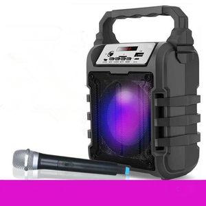 mikrofon dhl ücretsiz Açık taşınabilir mikrofon ses kablosuz bluetooth hoparlör taşınabilir kare dans subwoofer kayıt hoparlör