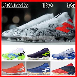 HEDİYE ÇANTASI Mens Yüksek Futbol Boots Uniforia Paketi Nemeziz 19+ Sert Zemin Kramponlar Nemeziz Messi 19 FG Açık Futbol Ayakkabı Tops