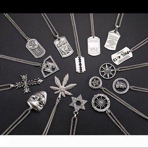 Men Fashion Pendant Necklace Titanium Steel Dancer Rap Hip Hop Punk Stainless Steel link Chain Male Statement Charm Jewelry Accessories 2020