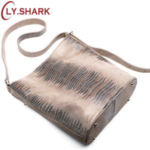 Ли.Акула мода серпантин Pattern кожа новые Женщины сумки женщины натуральная кожа сумка женский плечо сумка