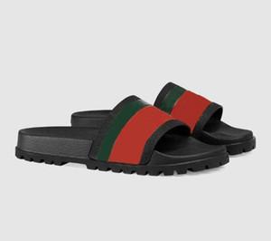 2020 Designer Uomo Donna Sandali di lusso di Modo di Estate All'avanguardia Sandali pantofola con la scatola rosso verde strisce di gomma Flip Flop 35-45