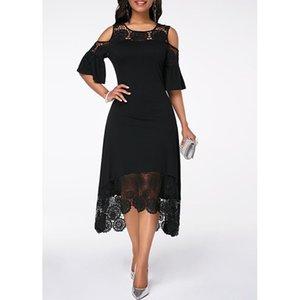 Nueva llegada para mujer deisgner Vestidos 2020 nueva llegada sólido de lujo vestido de color de alta calidad para mujer vestidos Breves 5 colores PH-YF203054