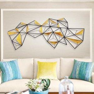 Nordeuropa Eisen-Kunst-Wandbehang Dekorieren Solid Geometry Art Dekoration A Wohnzimmer Hotel Soft Loading Vorlage