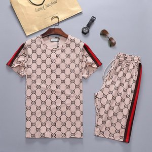 2020 designer men's sportswear summer T-shirt + pants sportswear fashion suit short sleeve running jogging high quality large size
