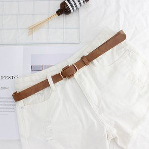High Quality Leather Belt Black Brown Women Leather Waist Belt For Jeans Pants Retro Student Luxury Belt cinturones para mujer