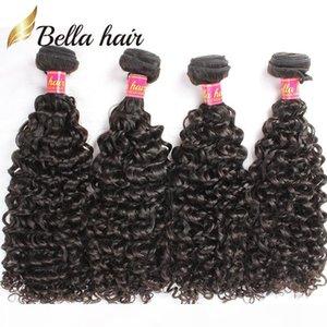 Brazilian Hair Bundles Curly Virgin Remy Human Hair Weft Extensions Curly Weaves 4pcs lot Hair Bundles Wholesale in Bulk Bellahair 9A