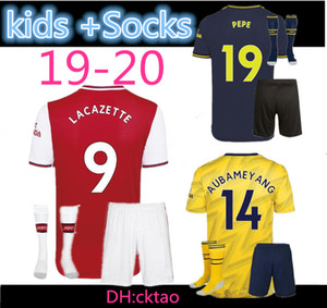 kids+Socks 2019 2020 Arsena sleeve Soccer Jerseys WILSHERE RAMSEY SUAREZ Kieran Tierney Leno goalkeeper 19 20 football full shirt