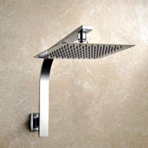 8 polegada Qualidade Premium de Aço Inoxidável Rainfall Shower Head Extension Gooseneck Chuveiro Arm Banheiro Wall Mounted Shower Set
