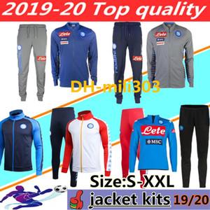 2019 2020 Napoli fútbol chaqueta de chándal 19 20 SSC Nápoles KOULIBALY INSIGNE MERTENS cremallera larga conjunto de ropa deportiva chaqueta de traje de entrenamiento de fútbol